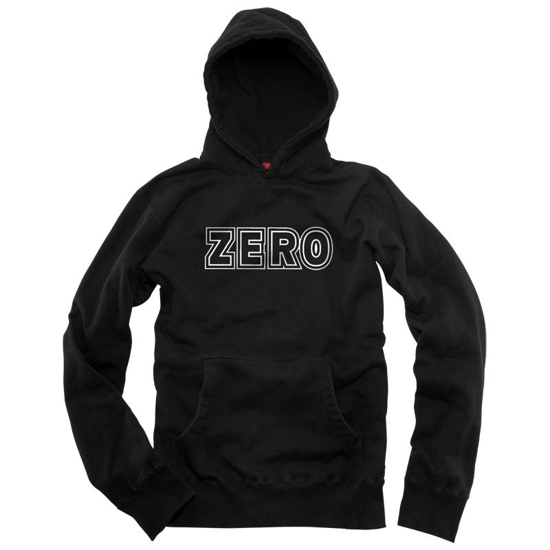 Zero Bold Pullover Hooded Sweatshirt - Black