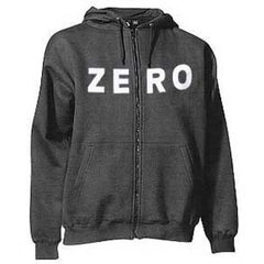Zero Army Zip Hooded Sweatshirt - Black