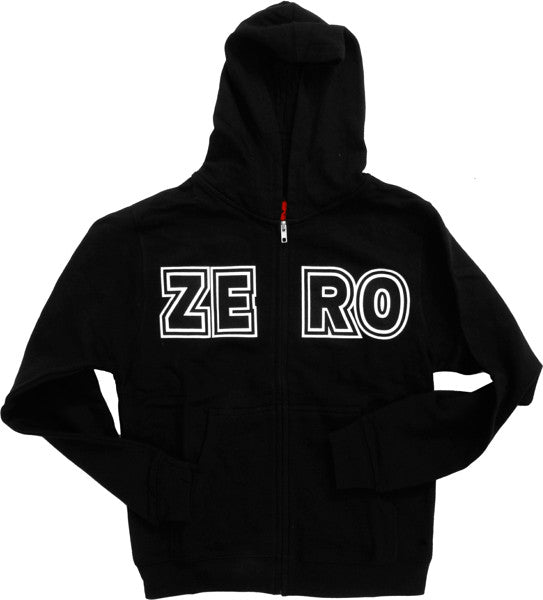 Zero Bold Zip Hooded Sweatshirt - Black