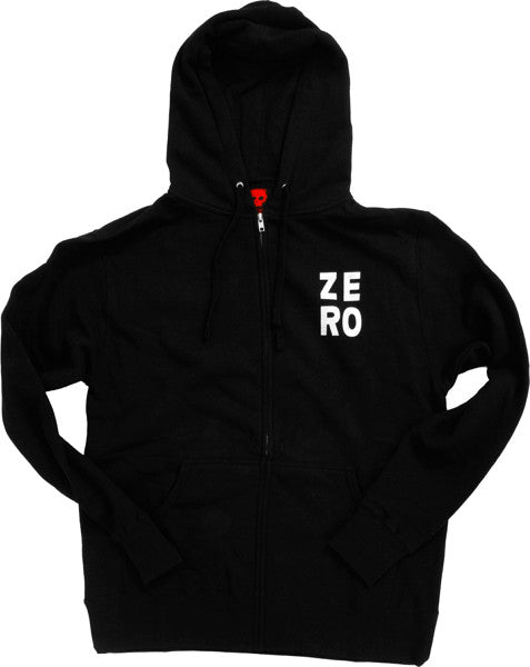 Zero Numero Zero Zip Hooded Sweatshirt - Black