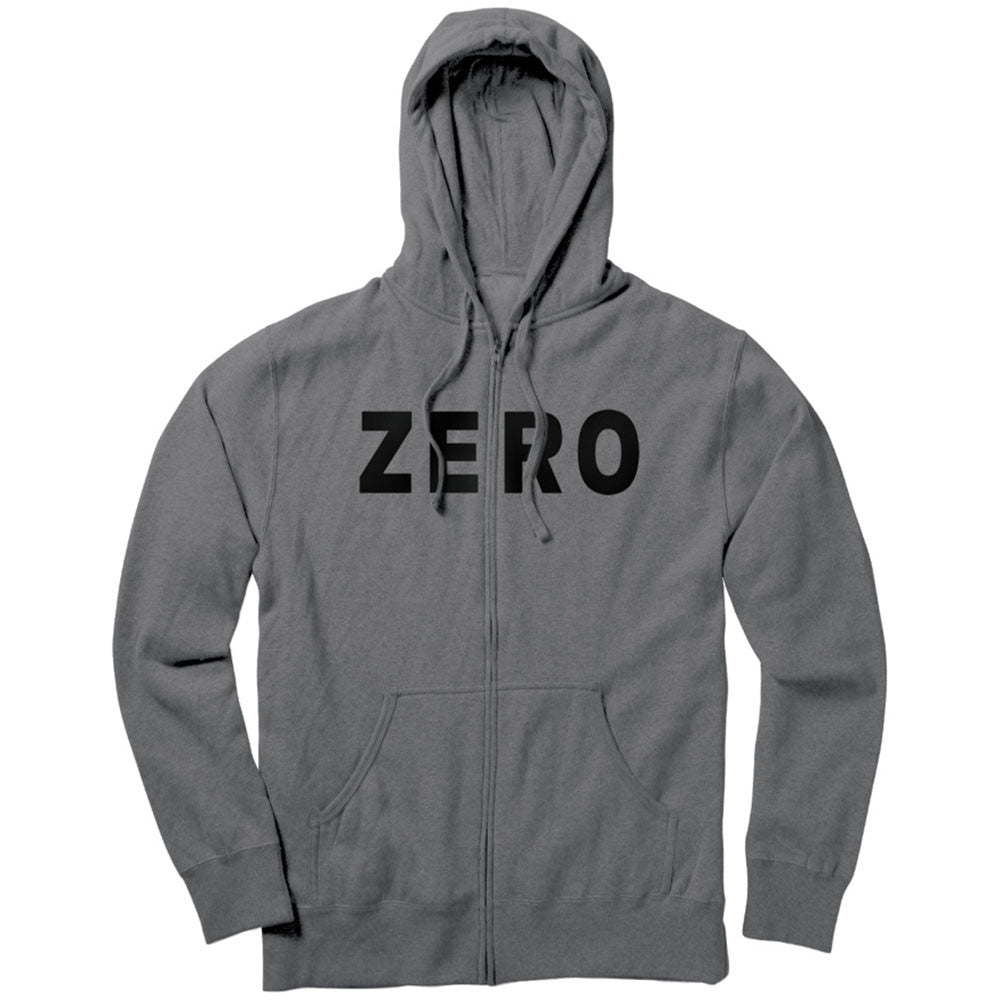 Zero Army Zip Hoodie Men's Sweatshirt - Gunmetal Heather