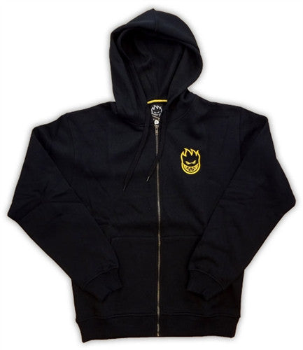 Spitfire Standard Issue Zip Men's Sweatshirt - Black/Gold - Small