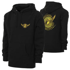 Spitfire Anti-Hero Classic Eagle Hooded Pullover Men's Sweatshirt - Black/Yellow