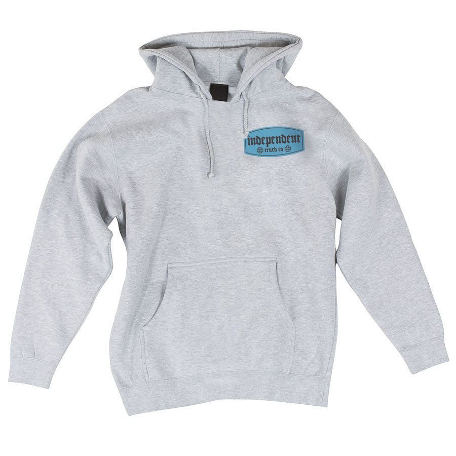 Independent Re-label Pullover Hooded L/S - Grey Heather - Men's Sweatshirt