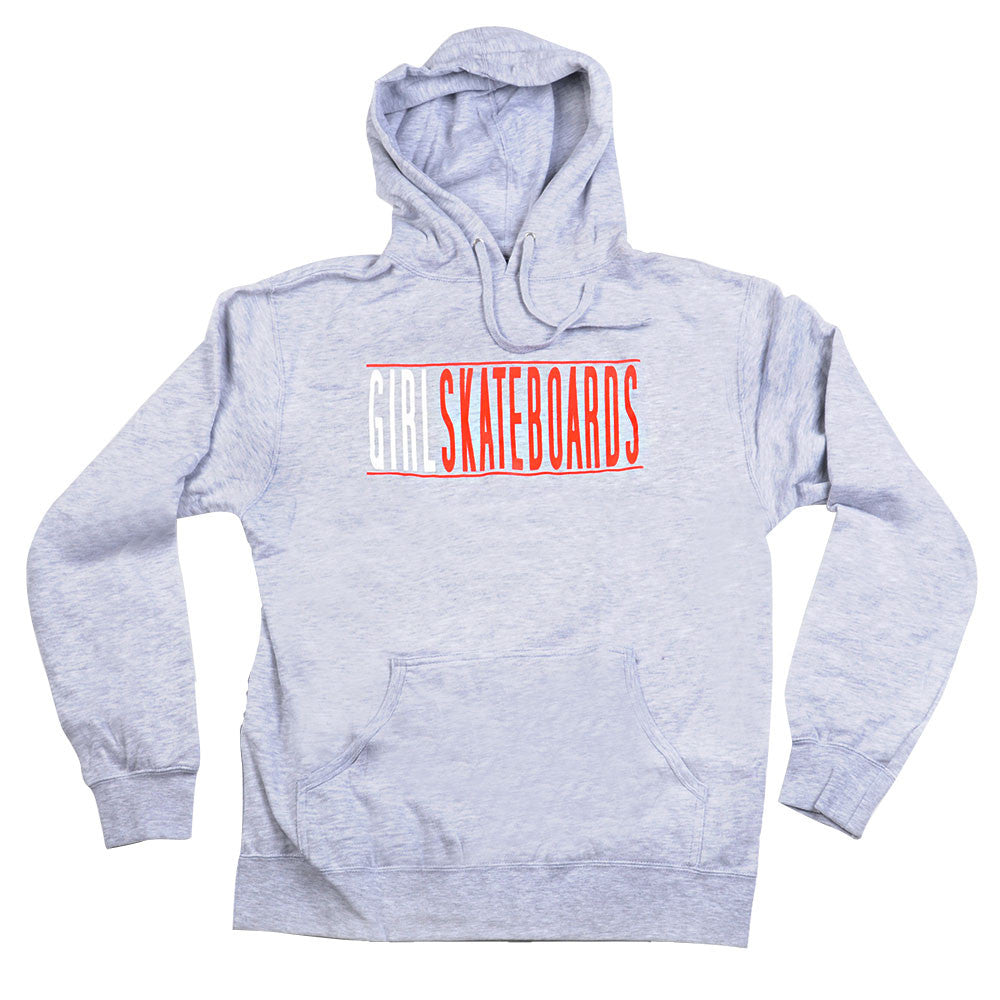 Girl Bars Pullover Men's Sweatshirt - Grey/Red