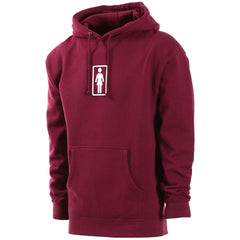 Girl Classic OG Pullover Hooded Men's Sweatshirt - Maroon