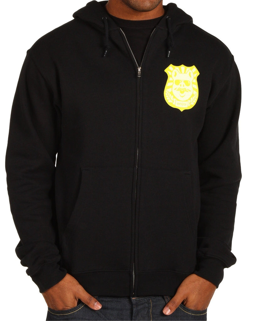 Enjoi Pig Badge Zip Sweatshirt - Black