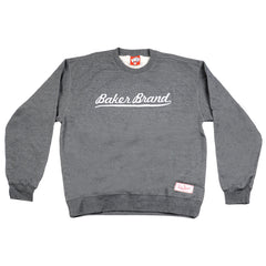 Baker Brand Script Crew Neck Men's Sweatshirt - Charcoal/Heather