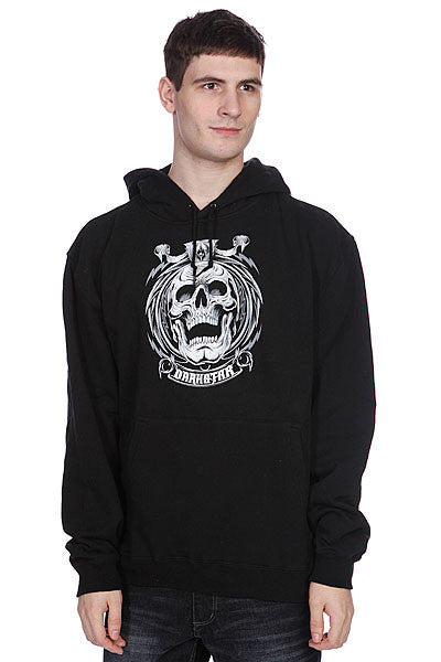 Darkstar Grave Pullover Hood - Black - Men's Sweatshirt
