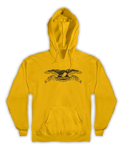 Anti-Hero Basic Eagle Pullover - Men's Sweatshirt - Gold/Black