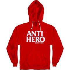 Anti-Hero Black Hero Pullover Men's Sweatshirt - Red/White