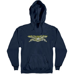 Anti-Hero Sprack Eagle Pull Over Hoodie Men's Sweatshirt - Navy