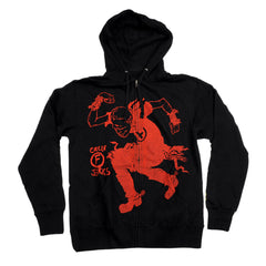 Foundation Circle F Jerks Zip Hooded Men's Sweatshirt - Black