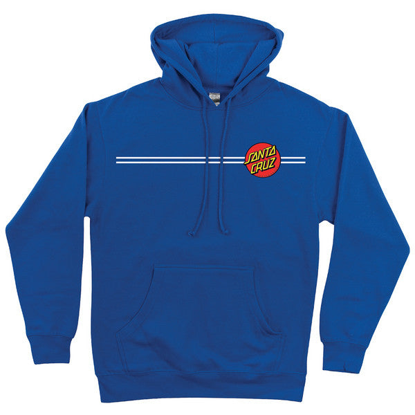 Santa Cruz Classic Dot Pullover Hooded L/S Men's Sweatshirt - Royal Blue