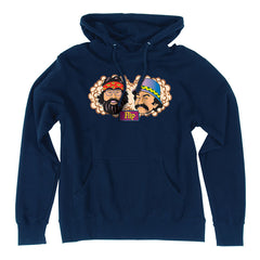 Flip Cheech and Chong Pullover Hooded L/S Men's Sweatshirt - Navy