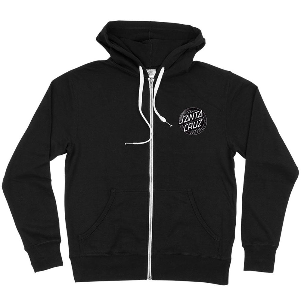 Santa Cruz Lost Dot Hooded Zip L/S Men's Sweatshirt - Black