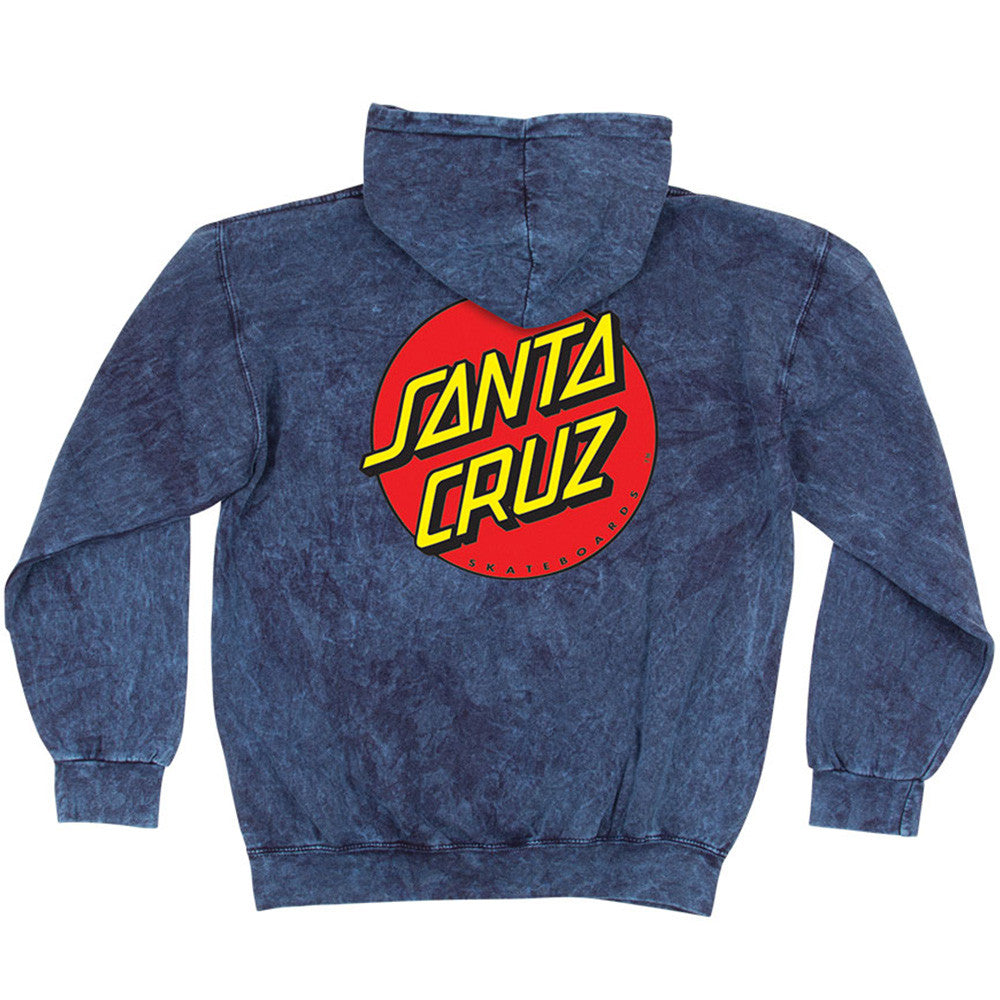 Santa Cruz Classic Dot Pullover Hooded L/S Men's Sweatshirt - Mineral Navy
