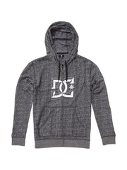 DC D-Rebel Zip-Up Hoodie - Black Heather - Men's Sweatshirt