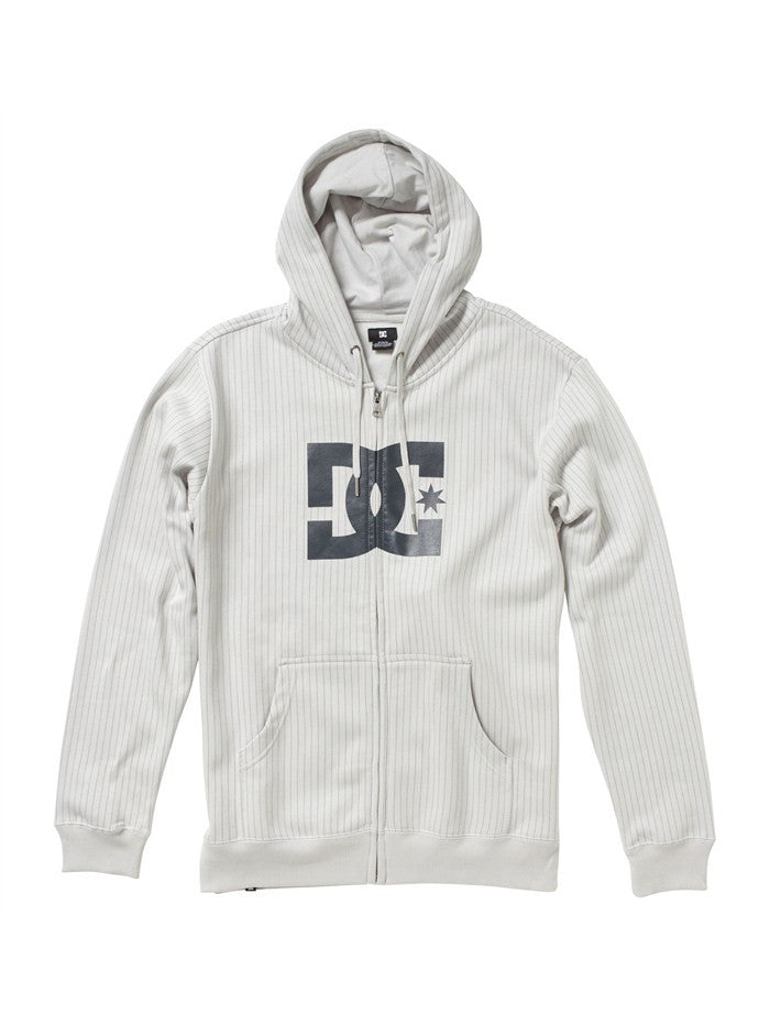 DC T-Star Print Zip Men's Sweatshirt - Ash