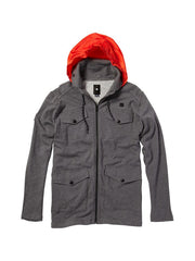 DC Engine Hooded Fleece Men's Jacket - Heather Grey