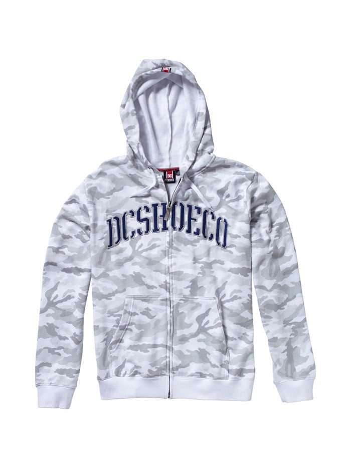DC Rob Dyrdek Covert Zip Men's Sweatshirt - White