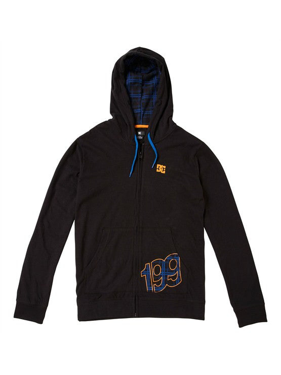 DC Travis Pastrana 199 Plaid Zip Men's Sweatshirt - Black