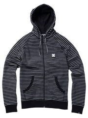 DC Cage Stripe Full Zip Men's Sweatshirt - Black