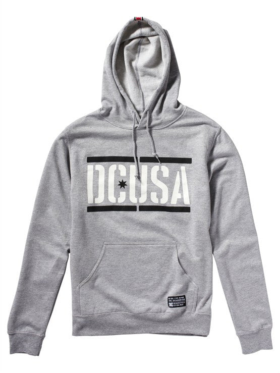 DC Rob Dyrdek Stencil Pullover Fleece Men's Sweatshirt - Heather Grey