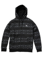 DC T-Star Shearling Printed Zip Men's Sweatshirt - Black Print