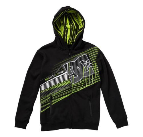 DC Whisky Throttle Fleece Zip Hoodie - Black - Men's Sweatshirt
