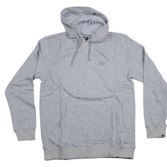 DC Rebel P/O Hooded - Heather Grey - Men's Sweatshirt
