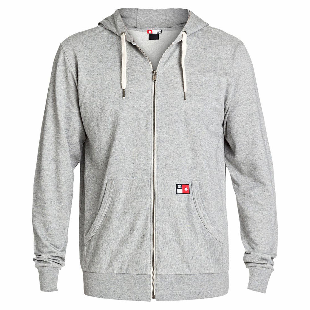 DC Core Zip Up Hooded Men's Sweatshirt - Steel Grey KNFH