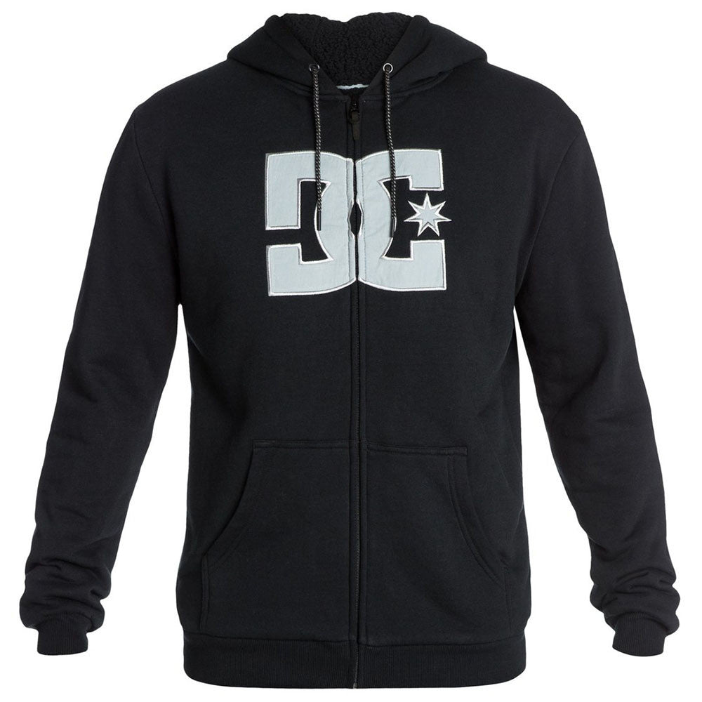 DC Star Sherpa Zip Up Hooded Men's Sweatshirt - Anthracite KVJ0