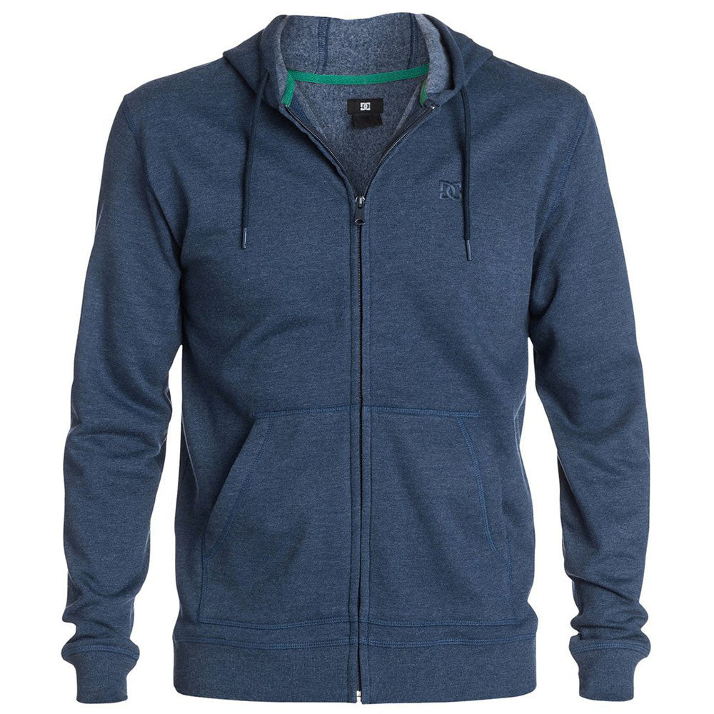 DC Rebel ZH 2 Zip Up Hooded Men's Sweatshirt - Peacoat BTN0