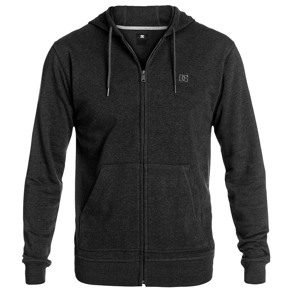 DC Rebel ZH 2 Zip Up Hooded Men's Sweatshirt - Anthracite KVJ0