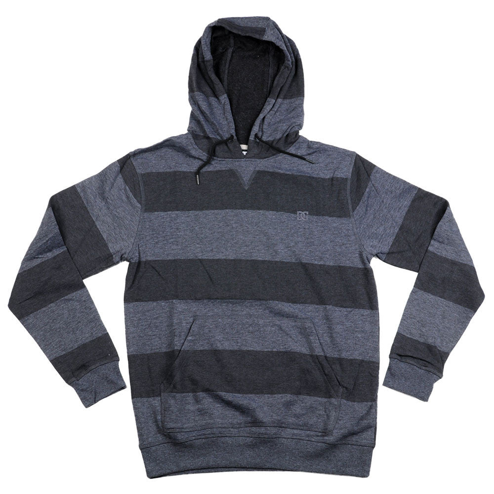 DC Rebel Stripe PH 2 P/O Hooded Men's Sweatshirt - Anthracite KVJ0