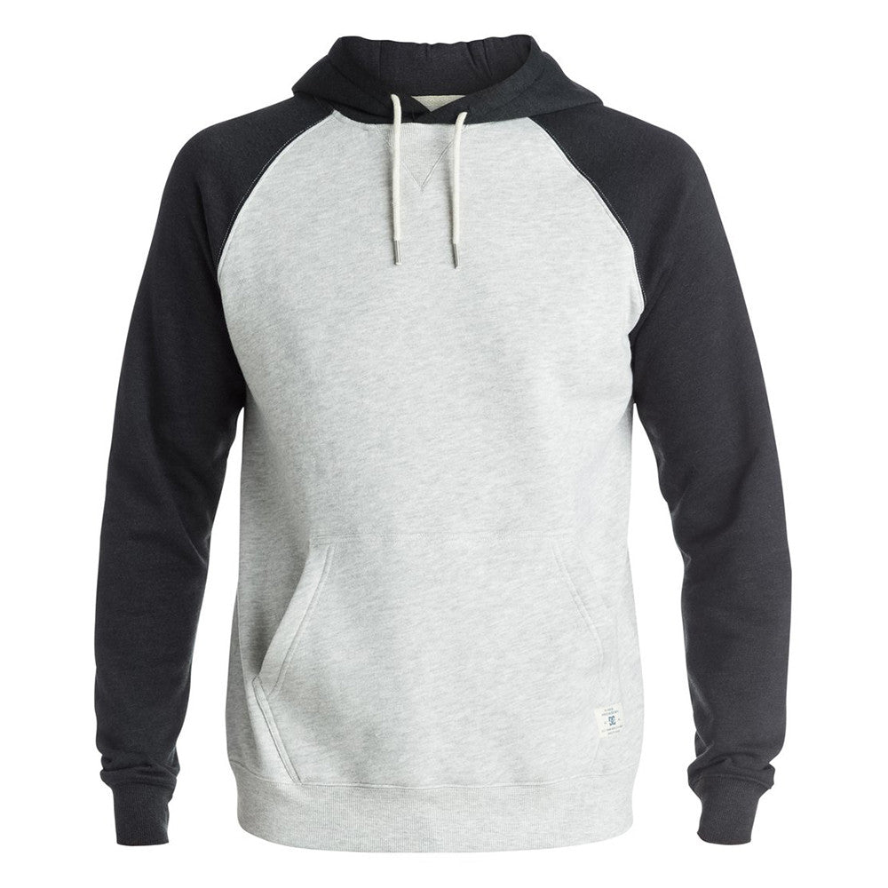 DC Rebel Raglan P/O Hooded Men's Sweatshirt - Glacier Gray SEYH