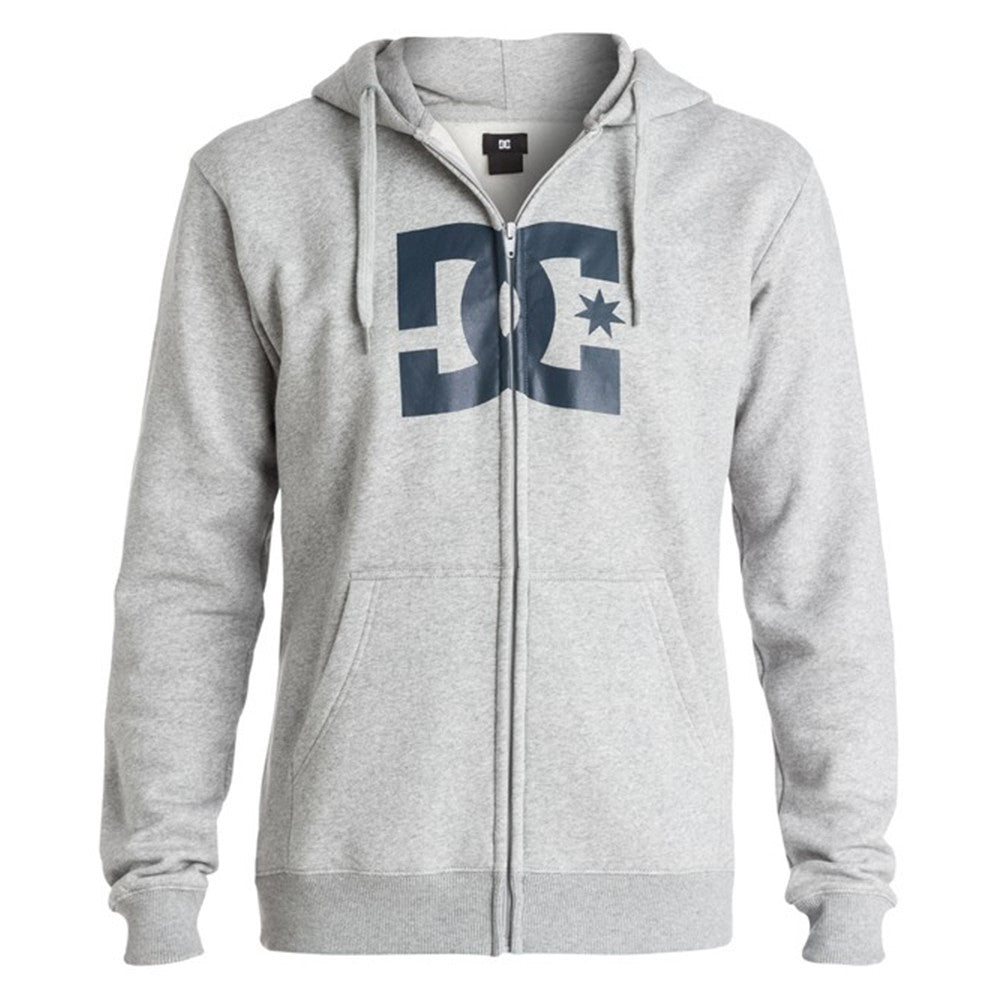 DC Star Zip Up Hooded Men's Sweatshirt - Steel Gray KNFH