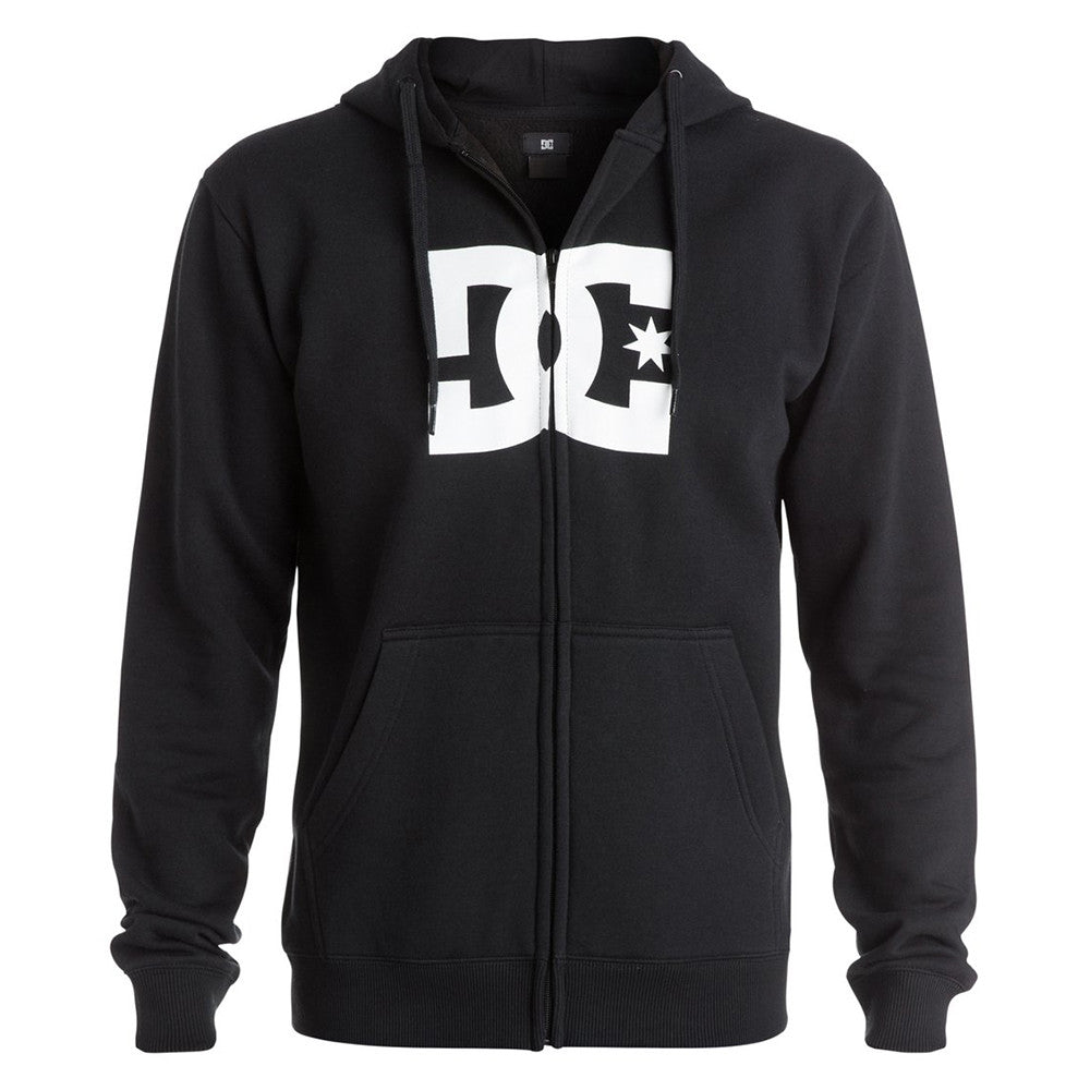 DC Star Zip Up Hooded Men's Sweatshirt - Anthracite KVJ0