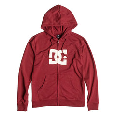 DC Star Zip Up Hooded Men's Sweatshirt - Syrah RZD0