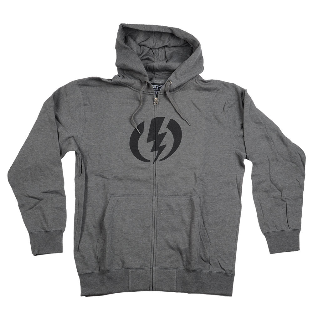 Electric Standard Basic Zip-Up Hooded - Heather Grey - Men's Sweatshirt