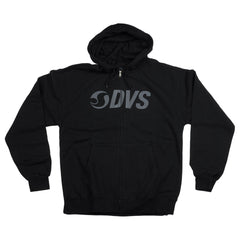 DVS Action Embroidery Zip Up Men's Sweatshirt - Black/Grey 001