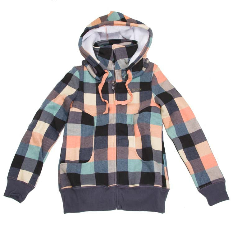 Roxy P Machinery Women's Sweatshirt - Papaya Plaid