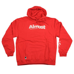Almost Worn Out Pullover Men's Sweatshirt - Red