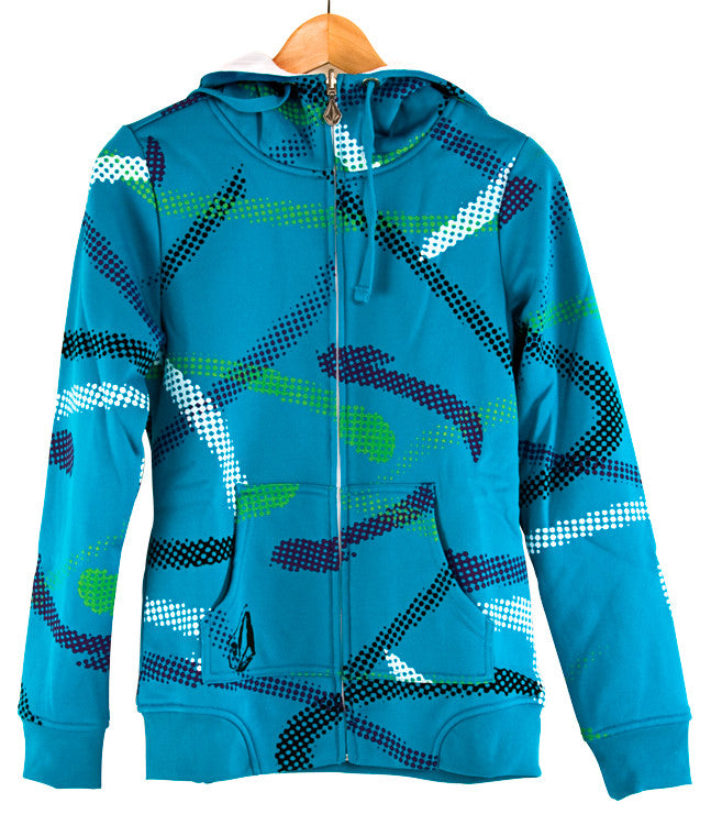 Volcom Shazam Hydro Reversible Women's Sweatshirt - Blue Dusk - Medium