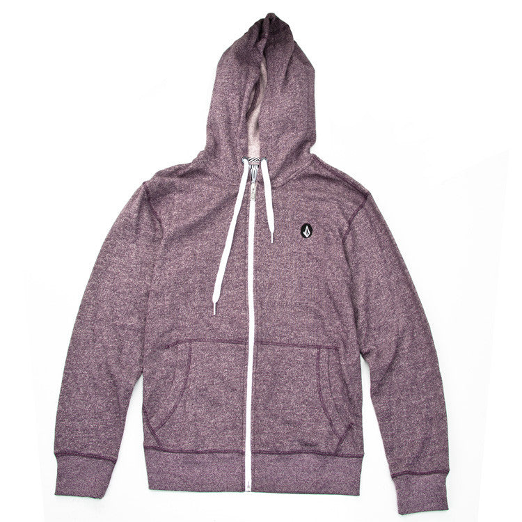 Volcom Solid Slim Marled Men's Sweatshirt - Plum - XX Large