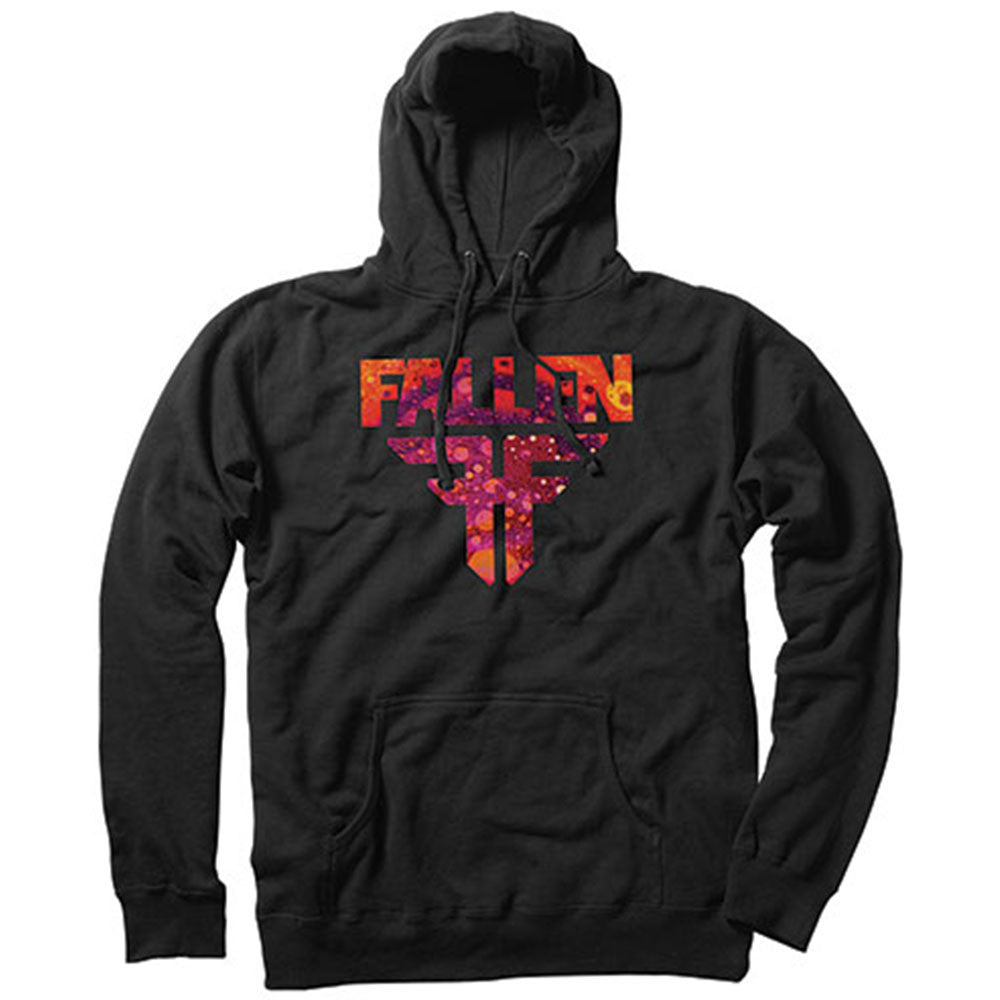 Fallen Insignia P/O Hooded Men's Sweatshirt - Black/Purple Acid