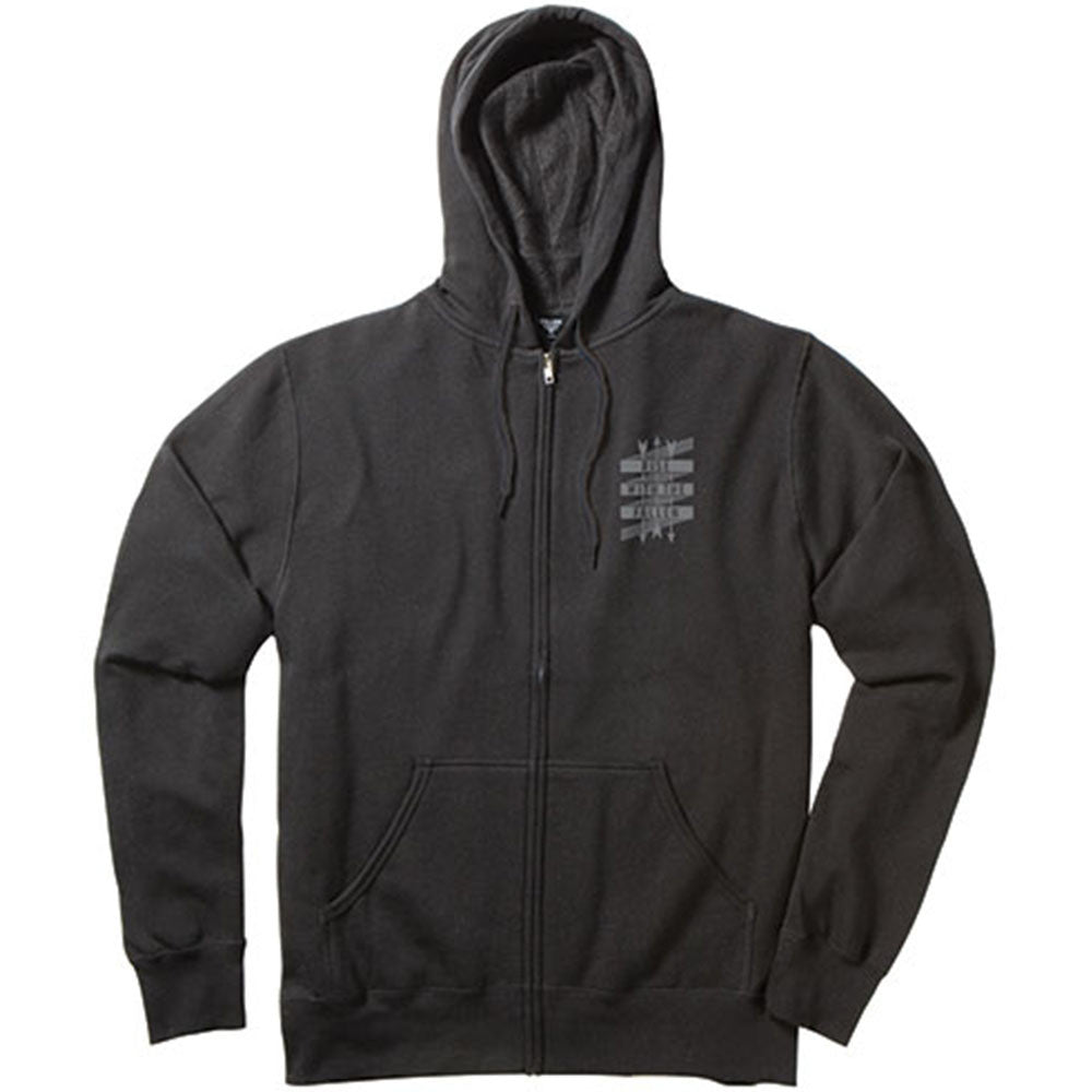Fallen Rise Arrows Zip-Up Hooded Men's Sweatshirt - Black