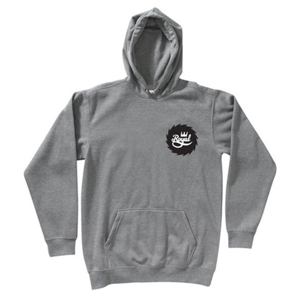 Royal Buzzsaw P/O Hooded Men's Sweatshirt - Athletic Heather Grey