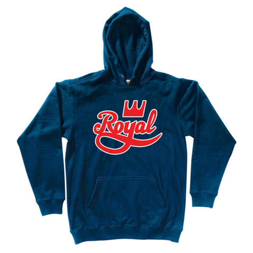 Royal Outline P/O Hooded Men's Sweatshirt - Navy